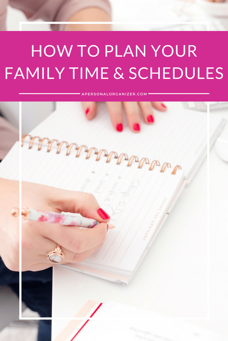 How to plan your family time and schedules
