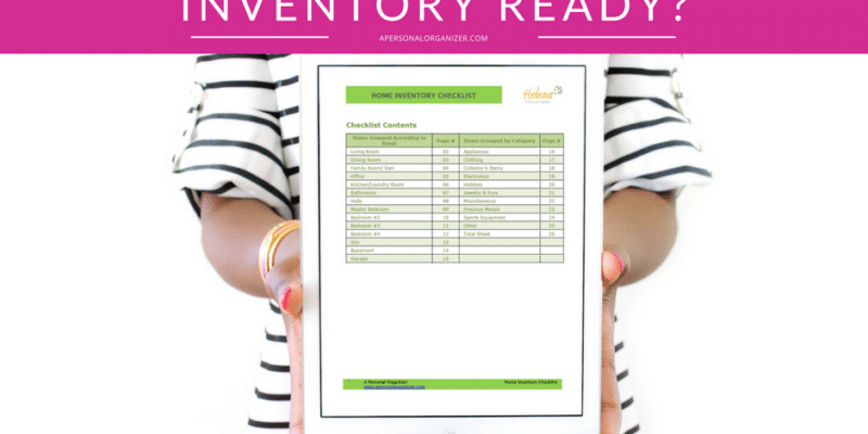 Is your home inventory ready? Preparing yourself for a move or an emergency will be much easier with a complete inventory of your belongings. Free download.