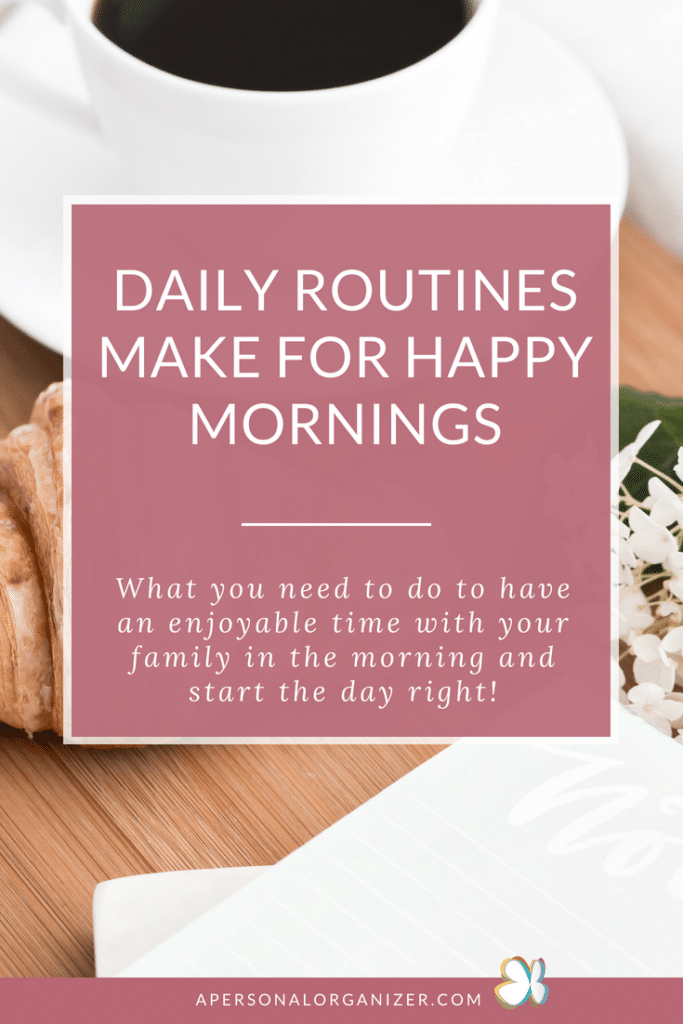 daily morning routines