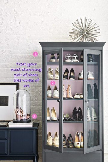 shoe organizing Lucky Magazine