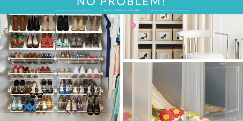 Too many shoes? No problem! Shoe storage tips & tools.