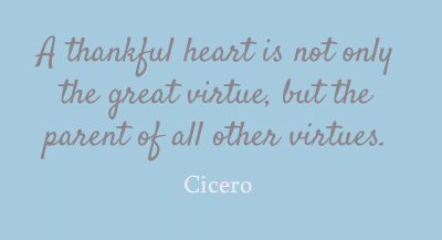 A thankful heart...