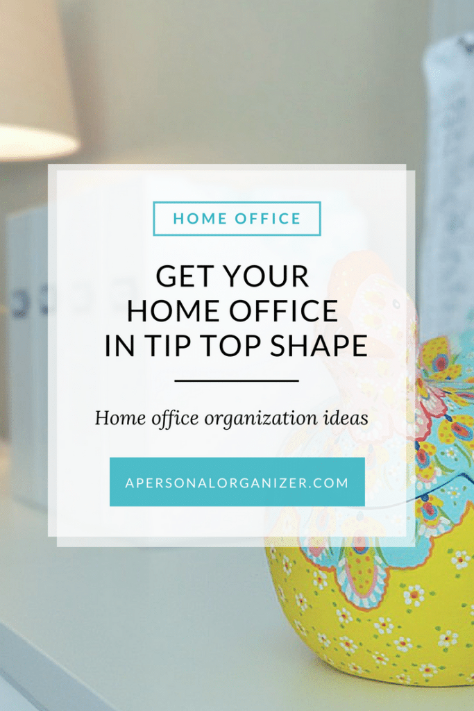 Get your home office in tip tip shape with these office organization tips.