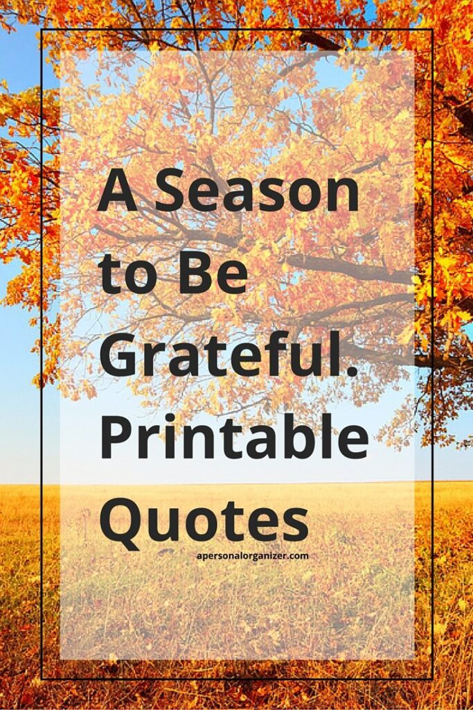 being grateful quotes s a personal organizer