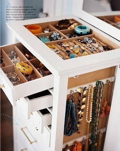 Jewelry storage ideas organizing ideas helena a - Ideas for storing jewellery ...