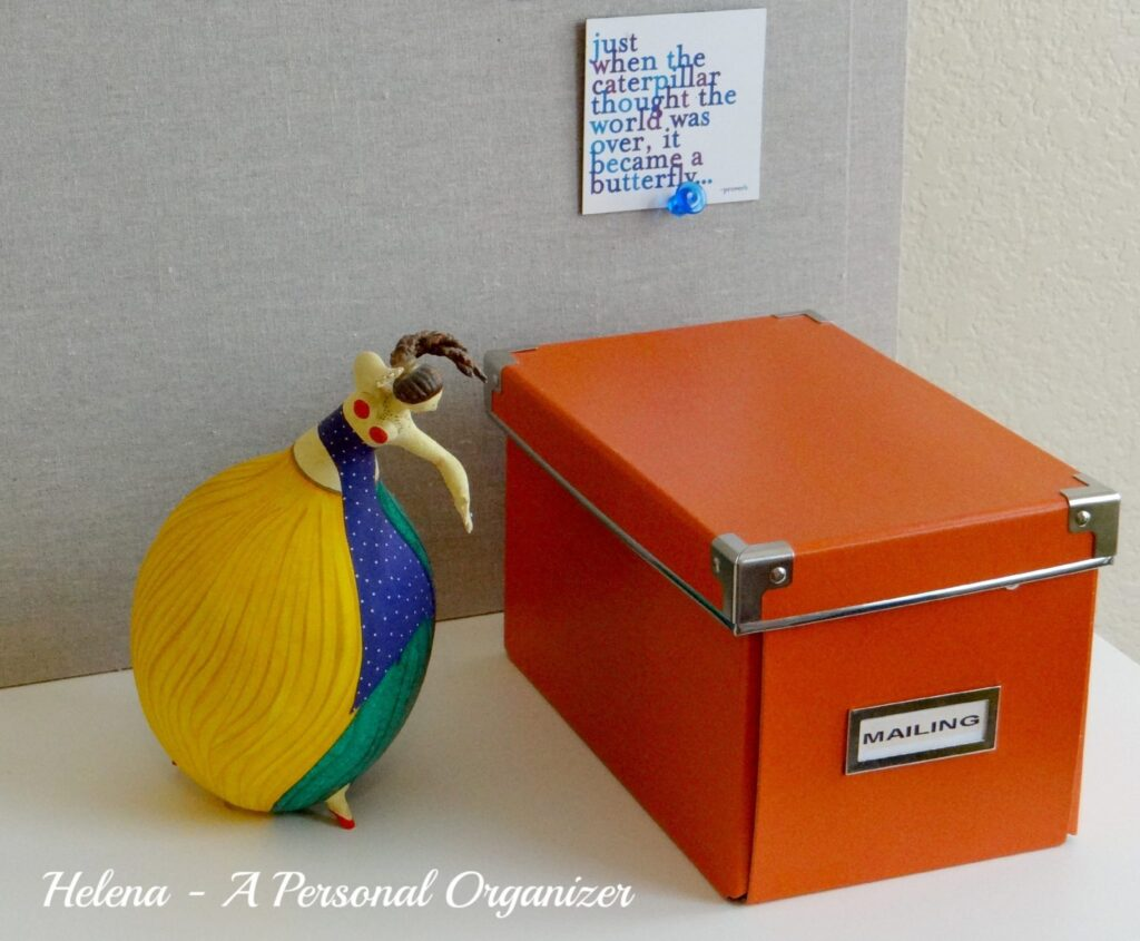 Home office organization ideas - mailing box