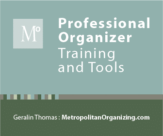 Image of Metropolitan Organizing logo for Professional Organizer Training and Tools