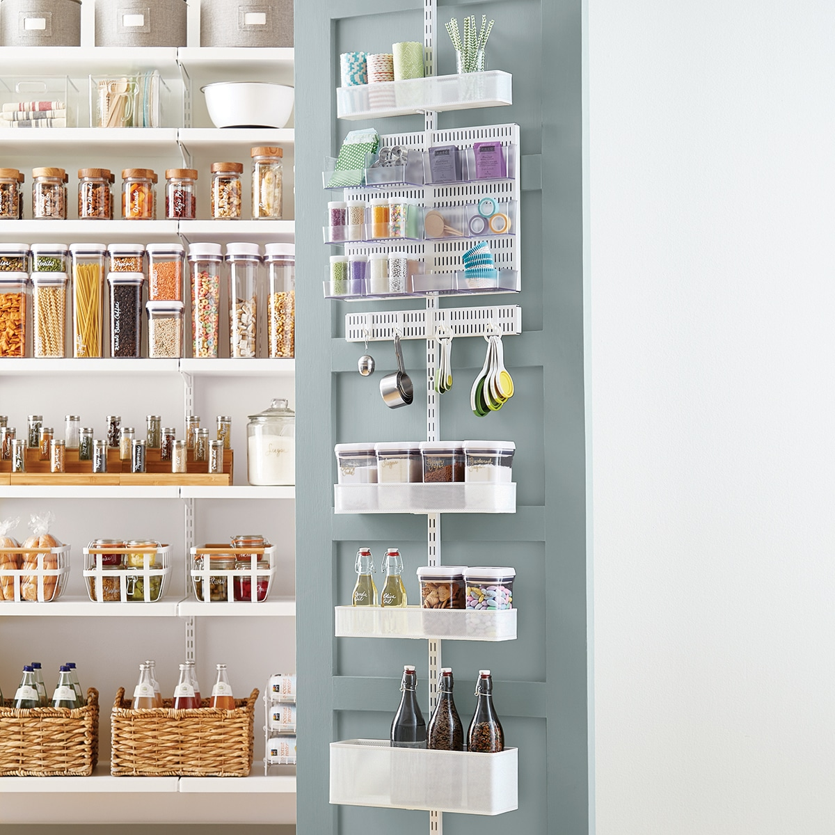 Elfa door storage system for small pantry