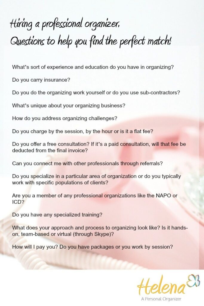 How to hire a professional organizer