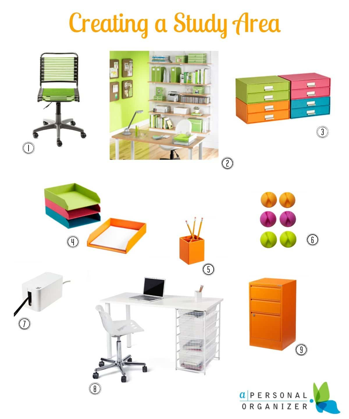 How to create a study area for your kids. If you kids do their homework in your home office, what about creating a study area for them? http://bit.ly/1gp0LYU