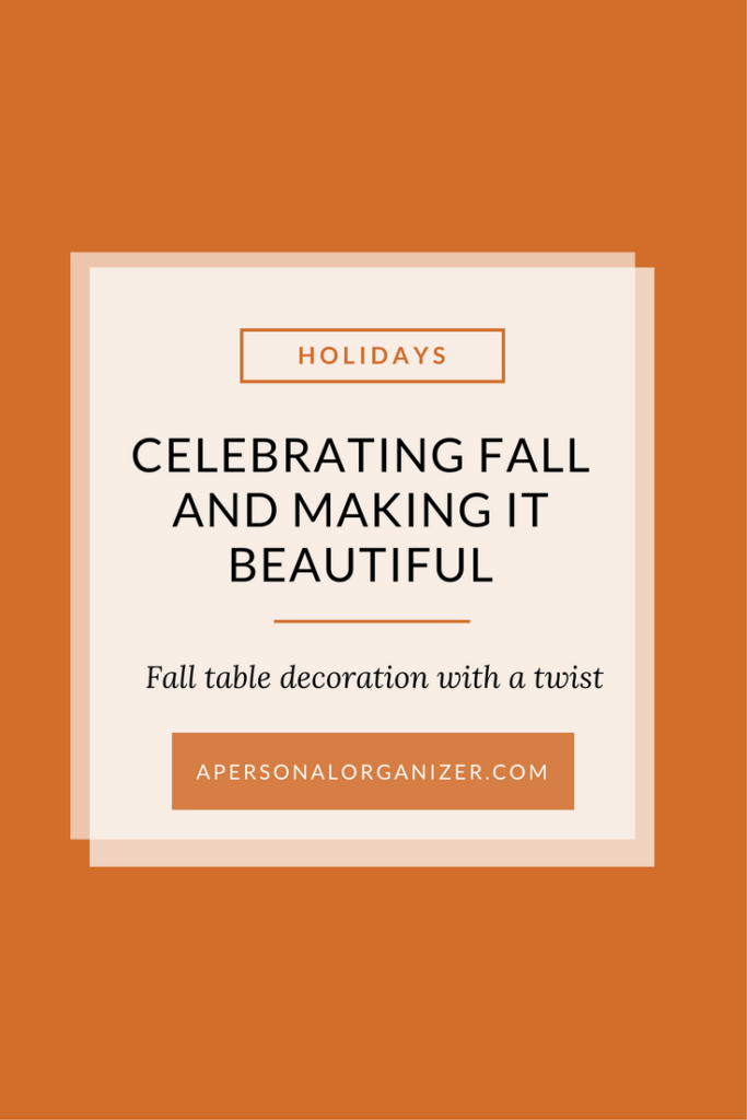 Thanksgiving Tablescape: Fall table decoration with a twist.