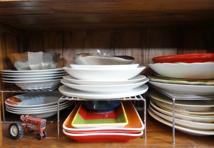 how to organize your serving platters