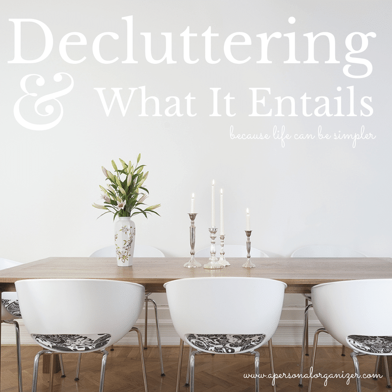 Decluttering What It Entails