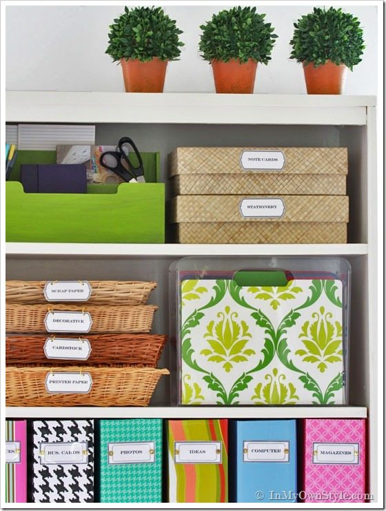 Home office organization tips.