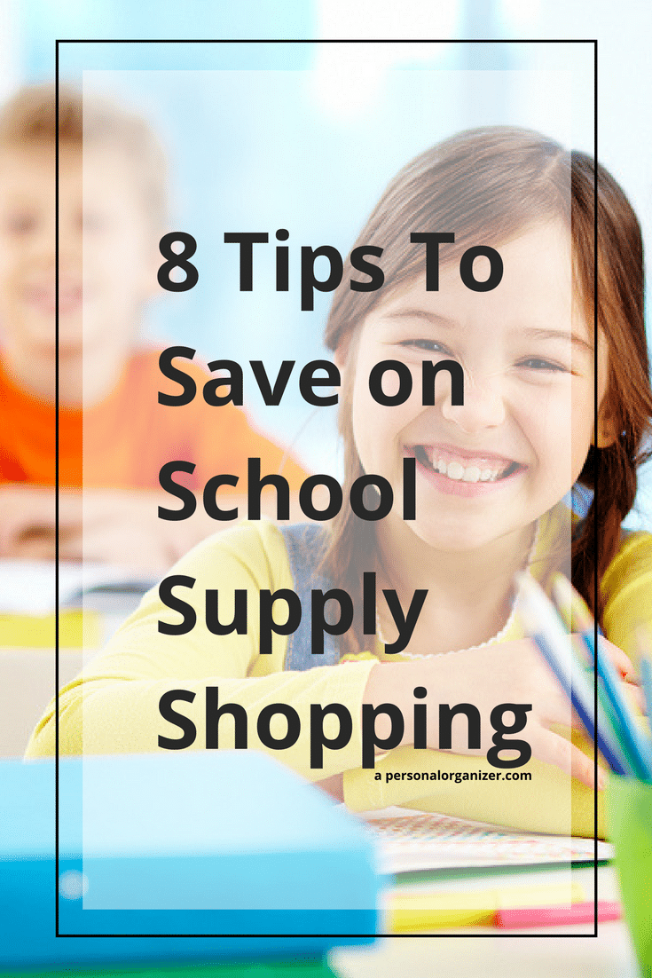 8 Tips To Save on School Supply Shopping. Save money on your back to school shopping with these tips.
