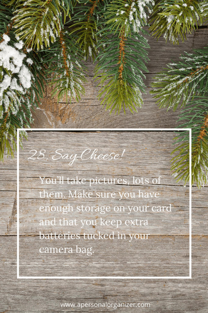 Organizing Tips For a Great Holiday Season - Getting ready for family photos.