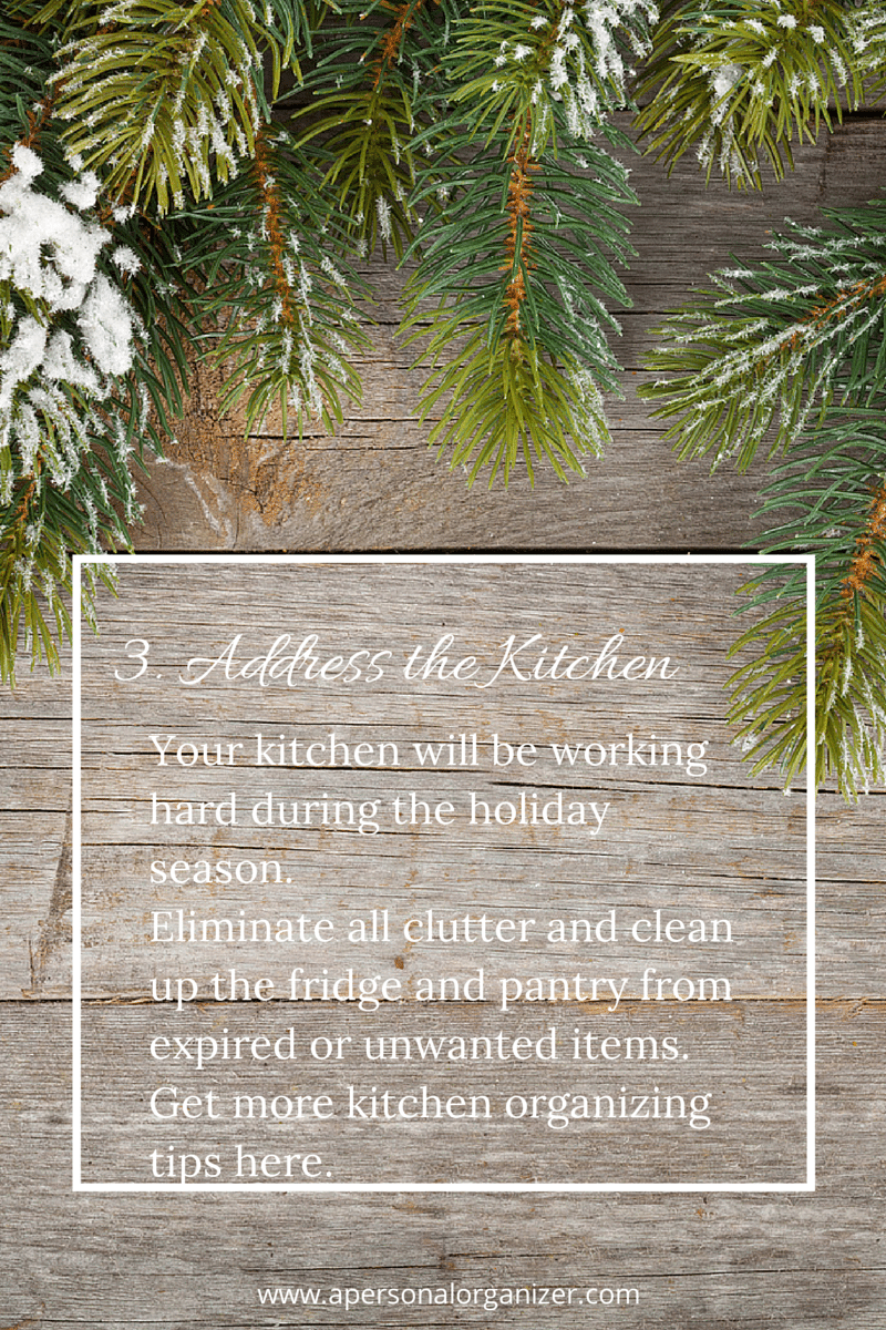31 Days of Holiday Organizing Tips - Tip on organizing the kitchen