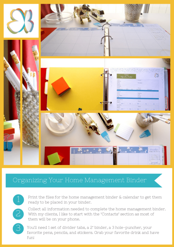 Home Management Binder 2015 - Fully editable printables.