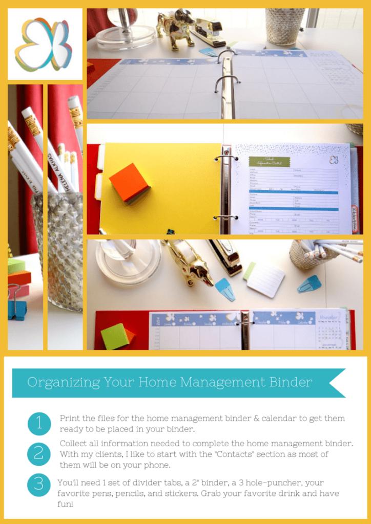 Home Management Binder 2015 - Fully editable printables.