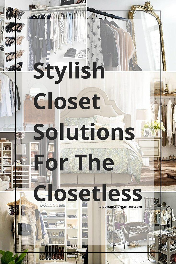 no closet organizing