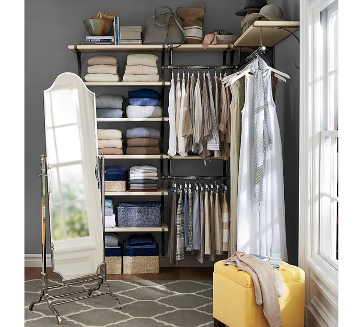Closet Organizing Ideas Pottery Barn Shelf Shoe Rack