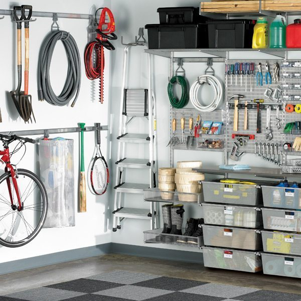 CONTROL THE CHAOS: 5 STEPS TO ORGANIZING YOUR GARAGE - Elfa system - organize garage