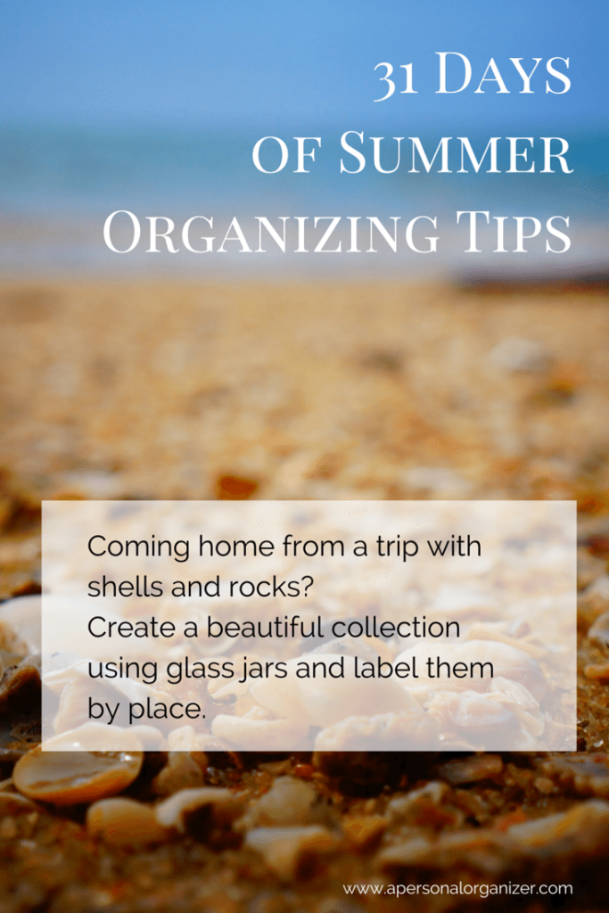 summer organizing tips