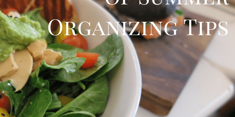 31 Days of Summer Organizing Tips 7