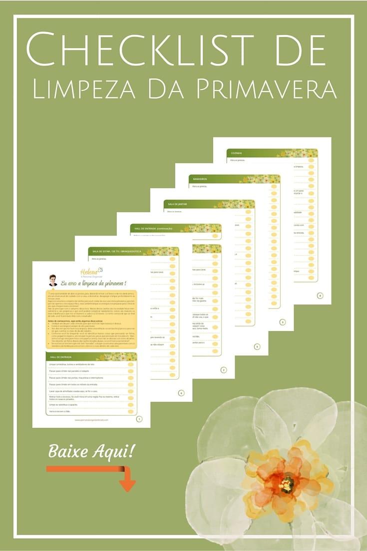 Checklist de Limpeza de Primavera - Um checklist de limpeza completo para a renovação das energias da sua casa!