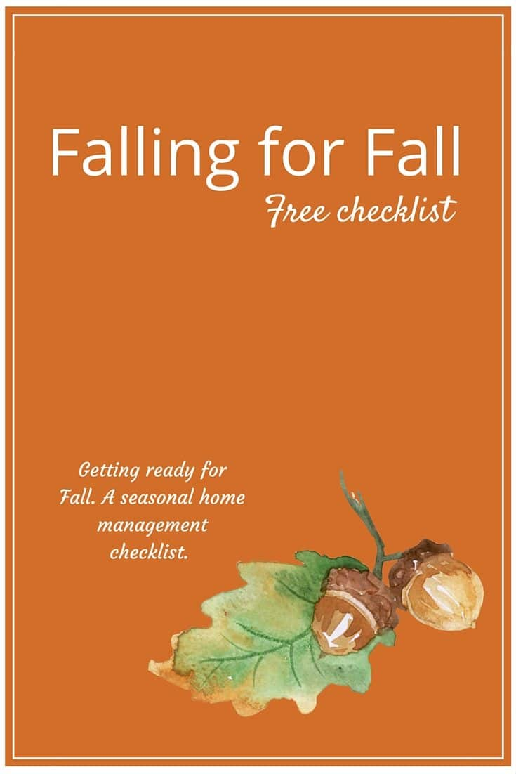 Falling For Fall Seasonal Home Maintenance Checklist