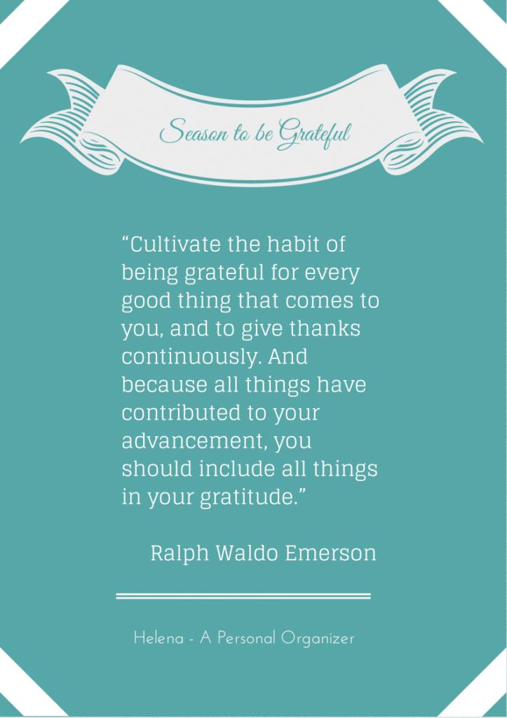being grateful