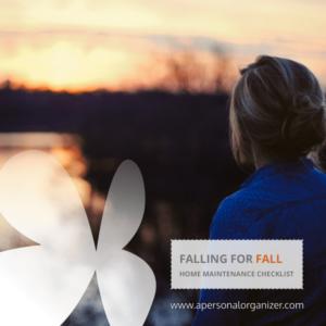Falling for fall. A seasonal home maintenance checklist.
