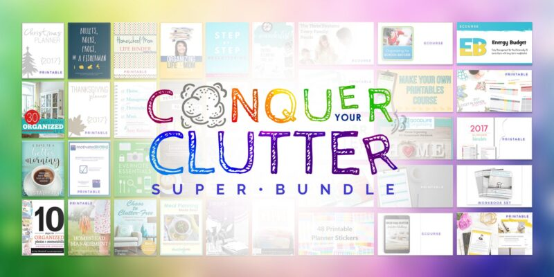 Get $658 of Conquering Your Clutter eResources for just $29.97!