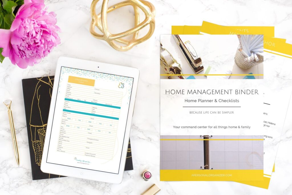 home organizing checklists