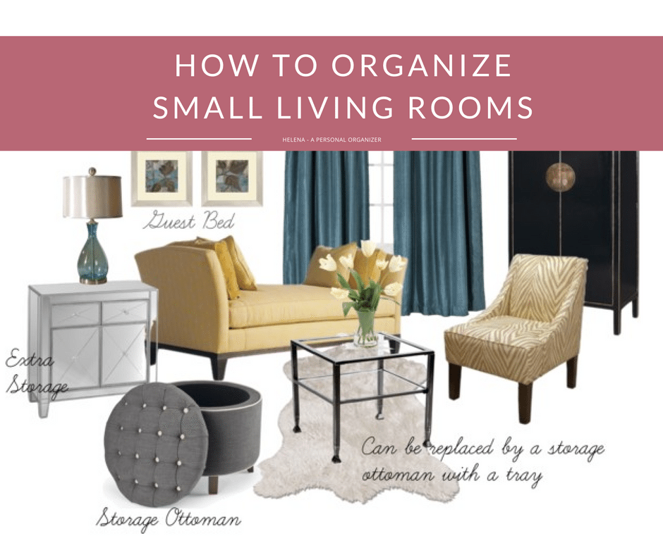 How to organize small living room helena alkhas for How to organize a small room