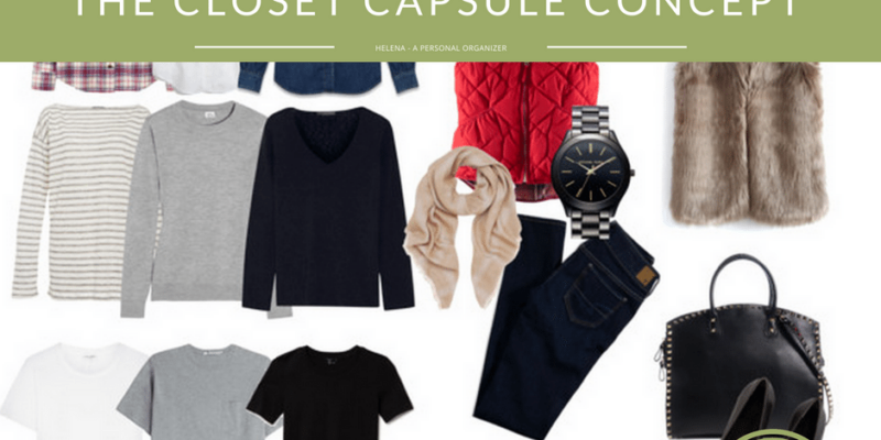 Organize your closet with closet capsule concept