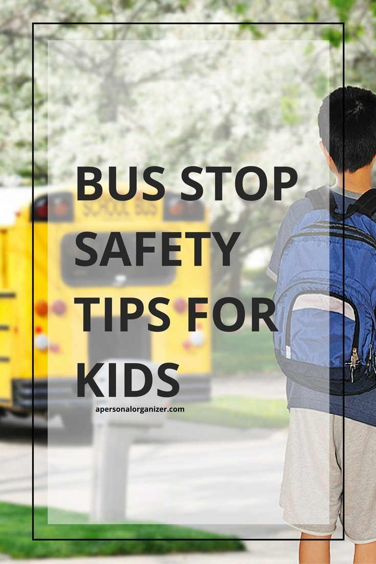 School bus safety tips for kids. Tips and strategies to teach and practice bus-safety with your child as we head up to back to school season.