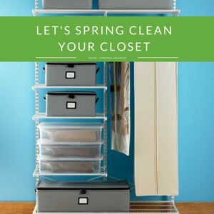 Lets spring clean your closet with easy organizing tips.