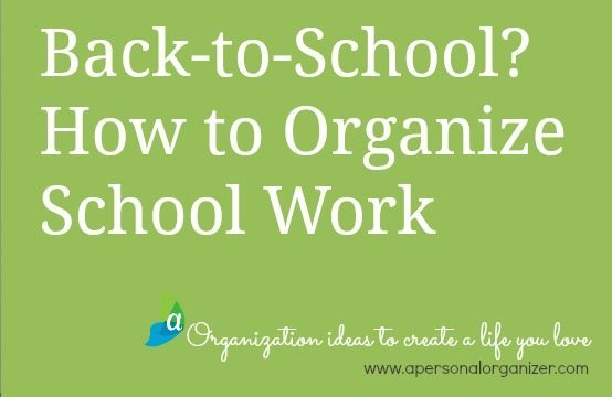 Tips to organize all the school work and art that's coming home with your kids.