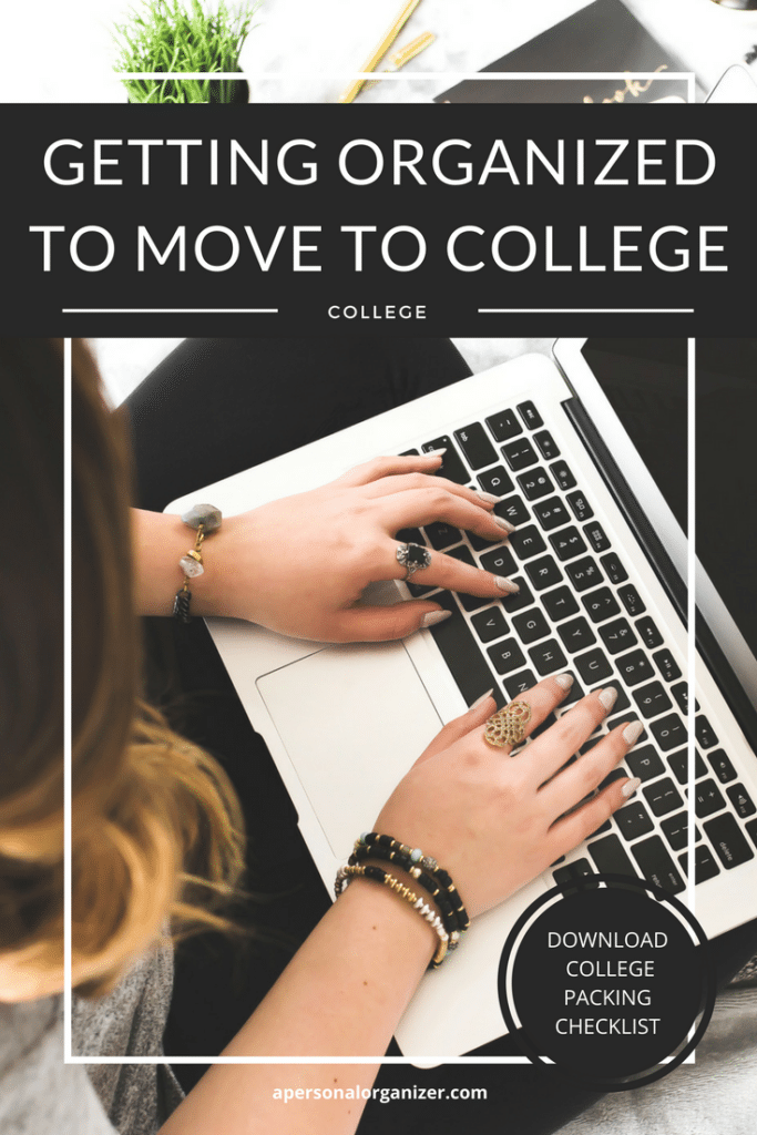 Getting Organized to Move to College
