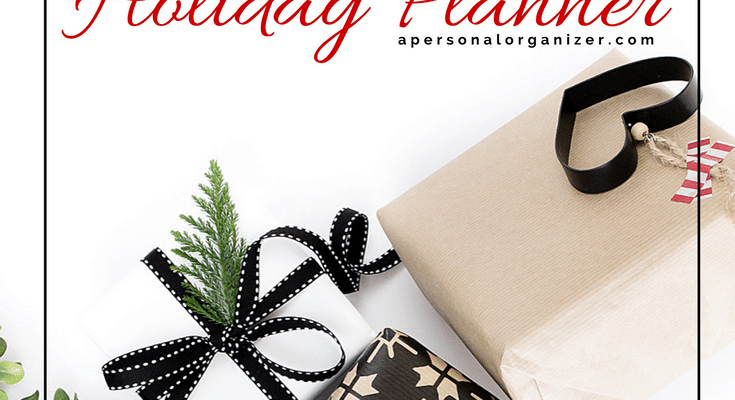 Banner Holiday Planner - A Personal Organizer