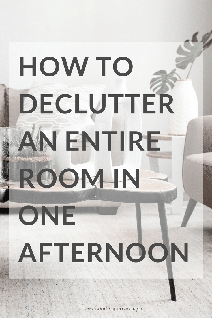 How to Declutter an Entire Room in One Afternoon.