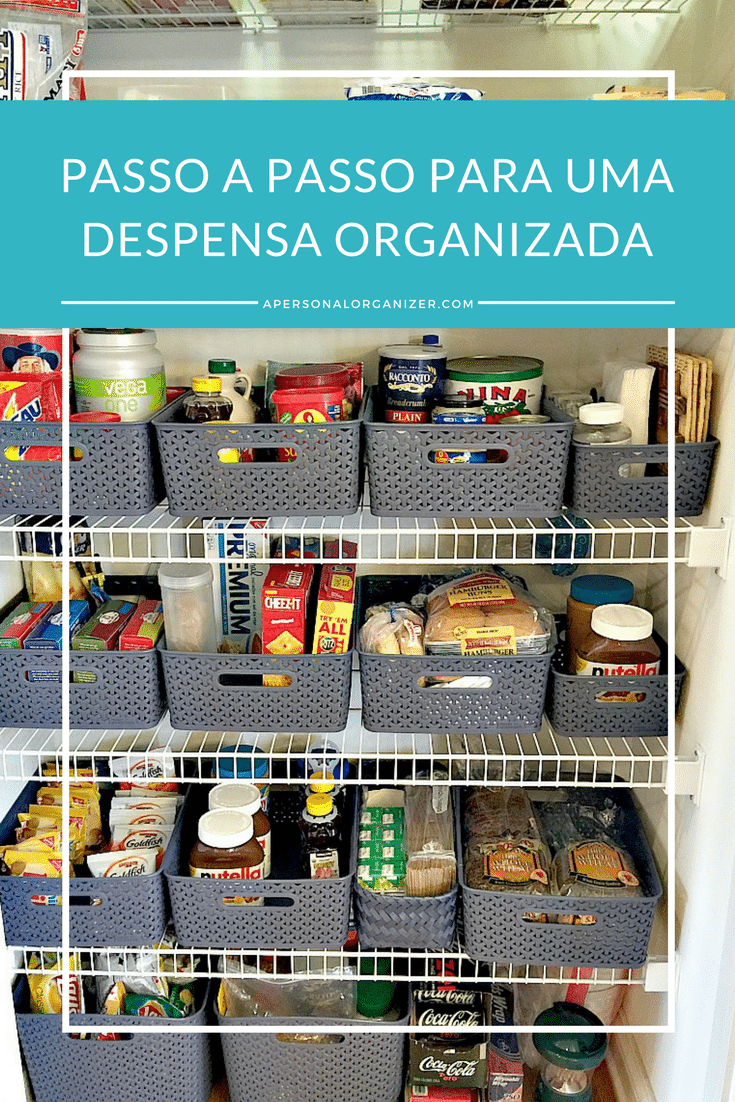 Passo a passo para uma despensa organizada. Descubra os três passos infalíveis para deixar a despensa organizada por muito mais tempo.