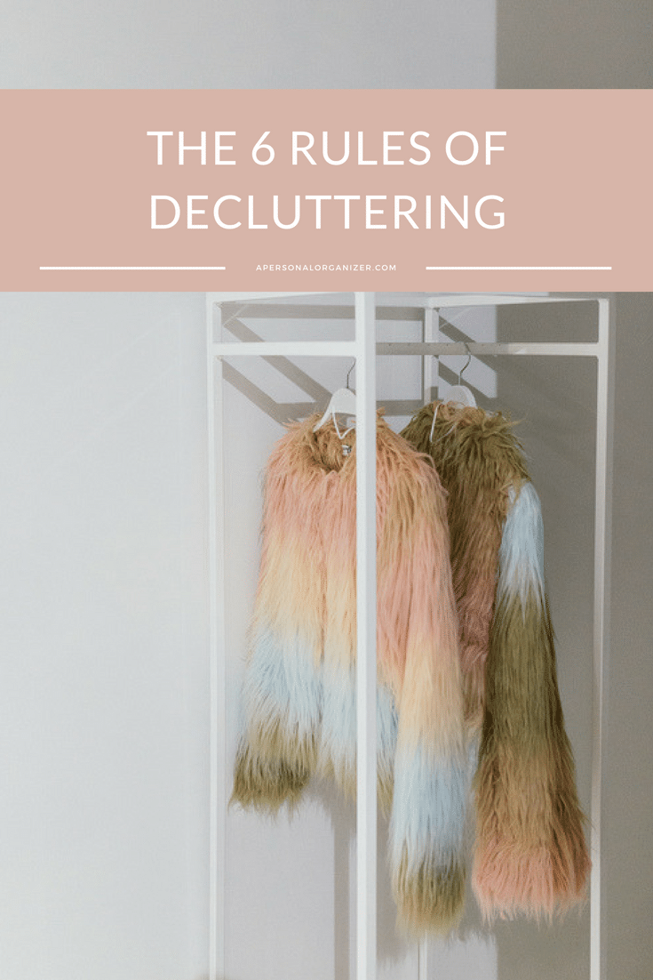 Decluttering is a key element for your success. Consider these six rules of decluttering to help you take steps toward living a clutter-free life.