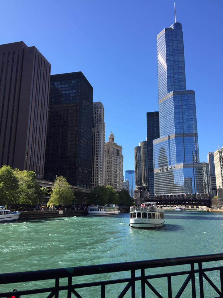 Moving, leaving the military and finding a new home. Chicago 2017 The river tour
