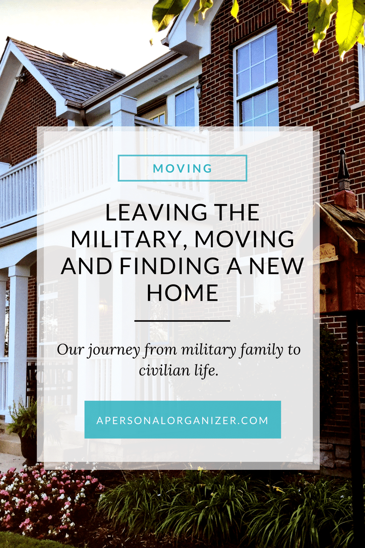 Leaving the military, moving out-of-state, finding a new job and home is no small task. Our journey from military family to civilian life. I share here how we did it and made the best of it. Navy wife life. #moving #relocating #militarywife