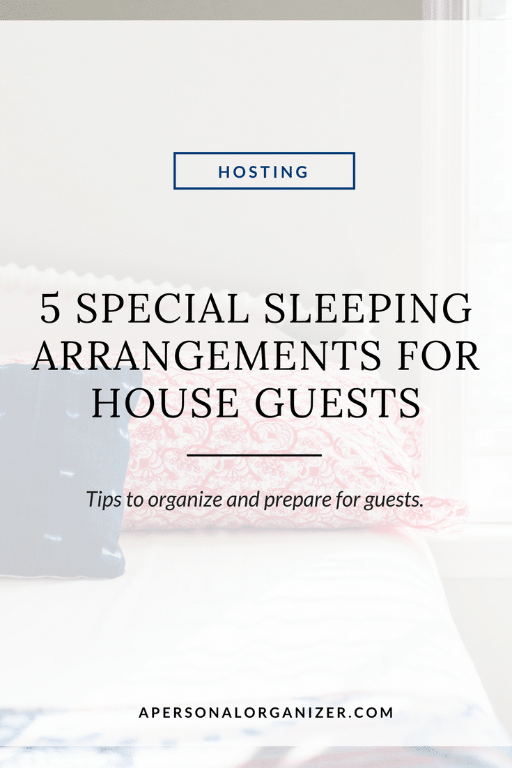 Of all the things you have to prepare for when having house guests, sleeping arrangements are perhaps one of the most important. Check my tips to prepare and organize for your guests. #holidays #guests