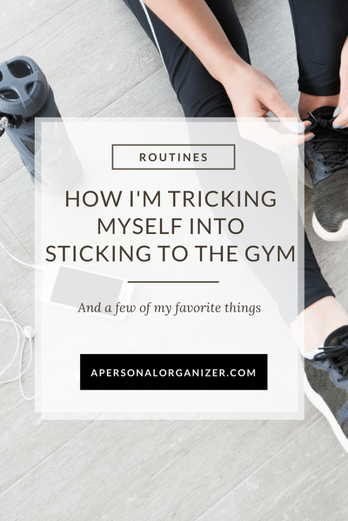 How I'm tricking myself into sticking to the gym. A new year's resolution finally achieved!