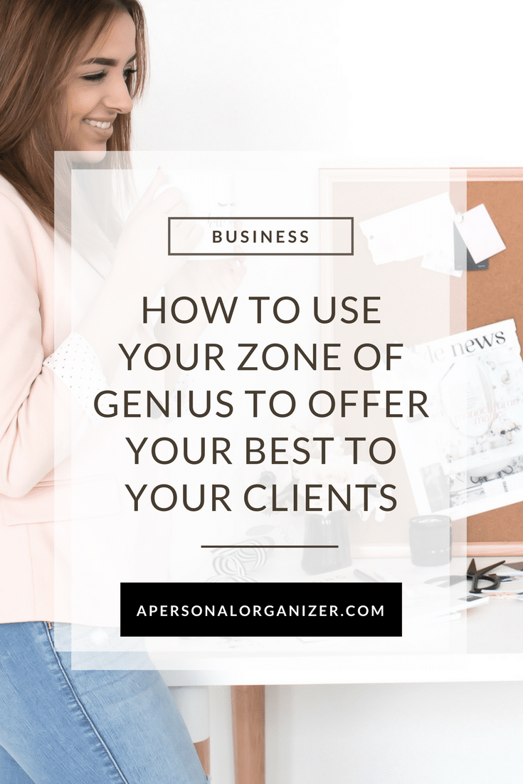 working in your zone of genius