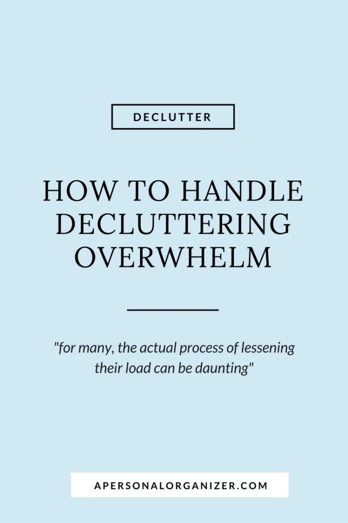 Tips to make decluttering easy.